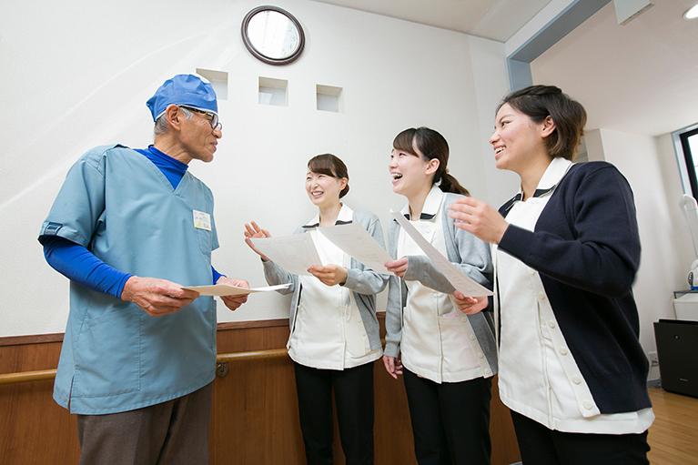 訪問先と治療について